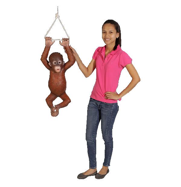 動物オブジェ ぶらさがるオランウータンの赤ちゃん / Hanging Baby Orangutan