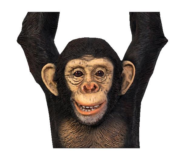 置物動物インテリアチンバンジー動物オブジェ ぶらさがるチンパンジー / Hanging Chimpanzee