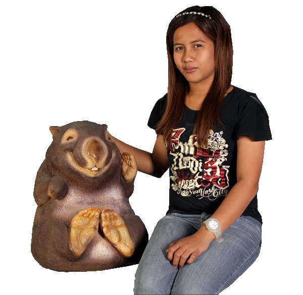 欲しいの 置物動物インテリア動物オブジェ 笑うウォンバット / Wombat Smiling (Not in Aus.) 【あす楽対応】, インポートセレクトSHOPでらでら fd706ec7