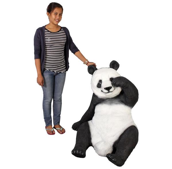 置物置物動物インテリアpanda動物オブジェ 戯れるパンダ / Slouching Panda (Not in Aus)