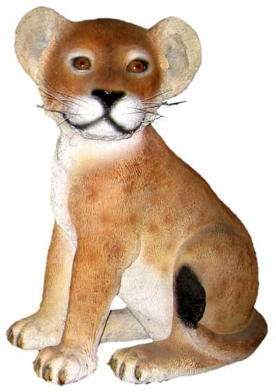 置物動物インテリア動物オブジェ 見つめる子ライオン / Lion Cub - Sitting fr080118