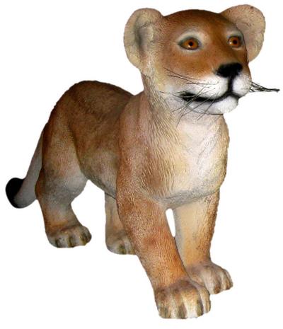 置物動物インテリア置物インテリア 動物動物オブジェ 歩く子ライオン / Lion Cub - Standing fr080117