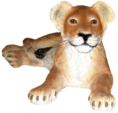 置物動物インテリア親真似子ライオン / Lion Cub - Lying down