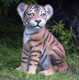動物オブジェ 子タイガーのいたずら / Tiger Cub - Sitting