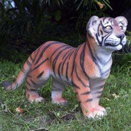 動物オブジェ 歩く子タイガー / Tiger Cub - Standing