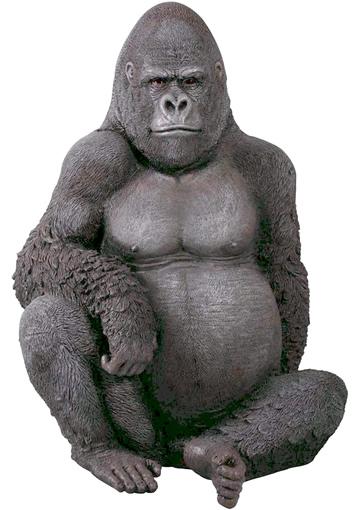 リアル置物動物インテリア置物インテリア 動物ゴリラ悠然たるゴリラ / Silver Back Gorillaf r090009
