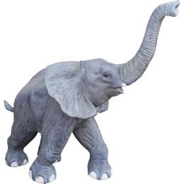 鼻を高く突き上げる子ゾウ 象さん / Walking Baby Elephant