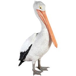 ペリカン置物動物インテリア動物オブジェ おすましペリカン / Standing Pelican
