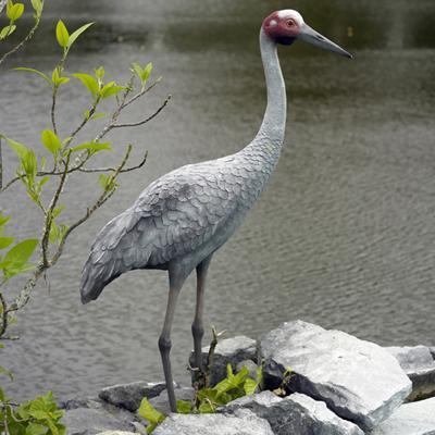 動物オブジェ 湖畔の豪州鶴 / Brolga Crane