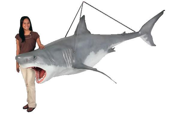 おさかなオブジェジョーズ・吊り下げタイプ / Great White Shark-Hanging