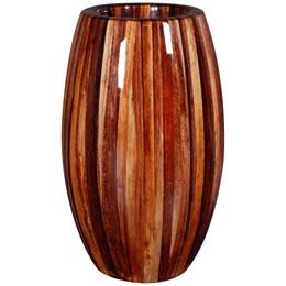 プランターオブジェ 鼓型プランター(アバカ皮柄) / Elonga Planter 30x65cmマニラ麻アバカの模様を施した縦型プランター。自宅の玄関やオフィスのワンポイントオブジェにするとお洒落!