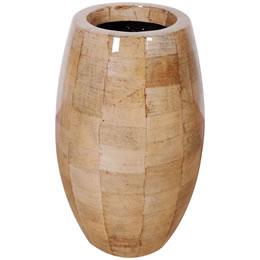 プランターオブジェ 鼓型プランター(バナナ皮柄) / Elonga Planter 30x65cmマニラ麻アバカの模様を施した縦型プランター。自宅の玄関やオフィスのワンポイントオブジェ