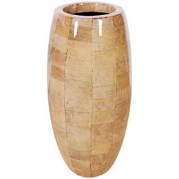 プランターオブジェ 鼓型プランター(バナナ皮柄) / Elonga Planter 47x95cm鼓型プランター(バナナ皮柄) / Elonga Planter 47x95cmバナナの皮を貼り付けたような模様を施した縦型プランター。自宅の玄関やオフィスのワンポイントオブジェ