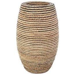 プランターオブジェ 鼓型プランター(縄編柄) / Elonga Planter 30x65cm縄で編み込んだような模様が民芸品にも見える縦型プランター