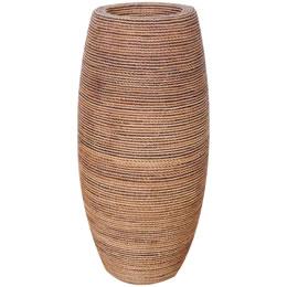 プランターオブジェ 鼓型プランター(縄編柄) / Elonga Planter 47x95cm縄で編み込んだような模様が民芸品にも見える縦型プランター