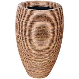 プランターオブジェ フルート型プランター(縄編柄) / Classic Planter 49x81cm縄で編み込んだような模様が民芸品にも見える縦型プランター