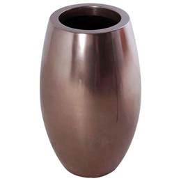 プランターオブジェ 鼓型プランター(ブロンズ) / Elonga Planter 30x65cm高級感を醸し出すブロンズ色の縦型プランター