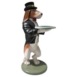 ワインラック ワインホルダー インテリア置物ウェーター/シェフオブジェ 「ビーグル犬のご奉仕」