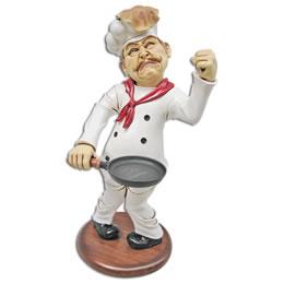 ウェーター/シェフオブジェ パンケーキを作るシェフ / Pancake Chef