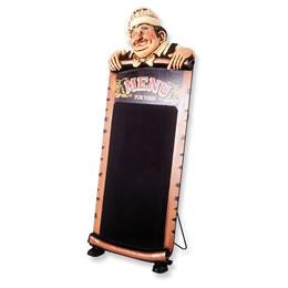 看板 黒板 ウェーター/シェフオブジェ 本日のシェフのおすすめ / STANDING COOKお店のおすすめをしっかりとアピールして、多くのお客様に楽しんでもらおう!