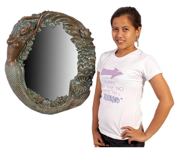 鏡オブジェ 人魚の鏡 / Mermaid Mirrer