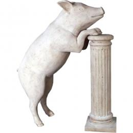 ぶた置物インテリア 動物白ぶた置物インテリア 動物好奇心の旺盛な豚 Curious Pig fr020608rs