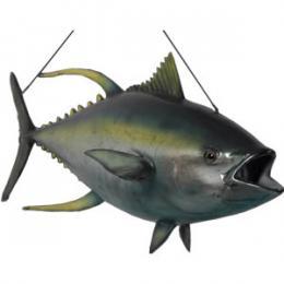 まぐろ置物(吊り仕様)インテリア キハダマグロ(イエローフィンまぐろ) / Yellowfin Tuna