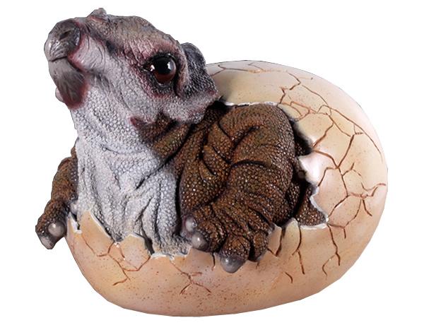 恐竜卵置物インテリア タマゴ孵化するトリケラトプス / Baby Triceratops Hatching  fr140035