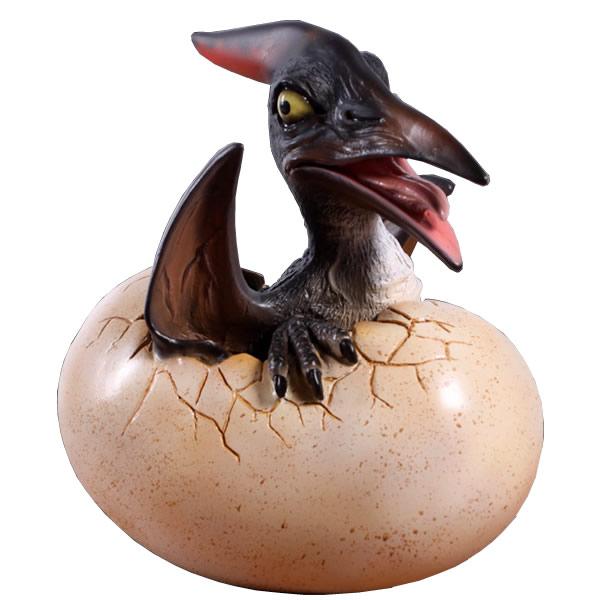 恐竜卵置物インテリア タマゴ孵化するプテラノドン / Baby Pteranodon Hatching fr140037