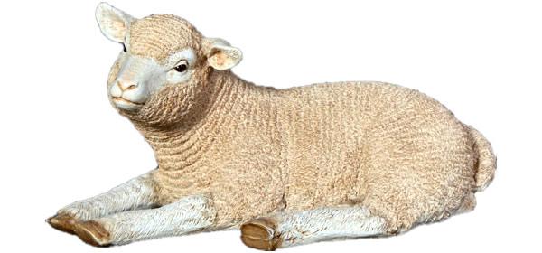 動物オブジェ くつろぐ子ひつじ / Merino Lamb Resting