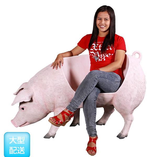 豚置物動物インテリアブタ太った豚のベンチ Fat Pig Bench太った豚のベンチ Fat Pig Bench