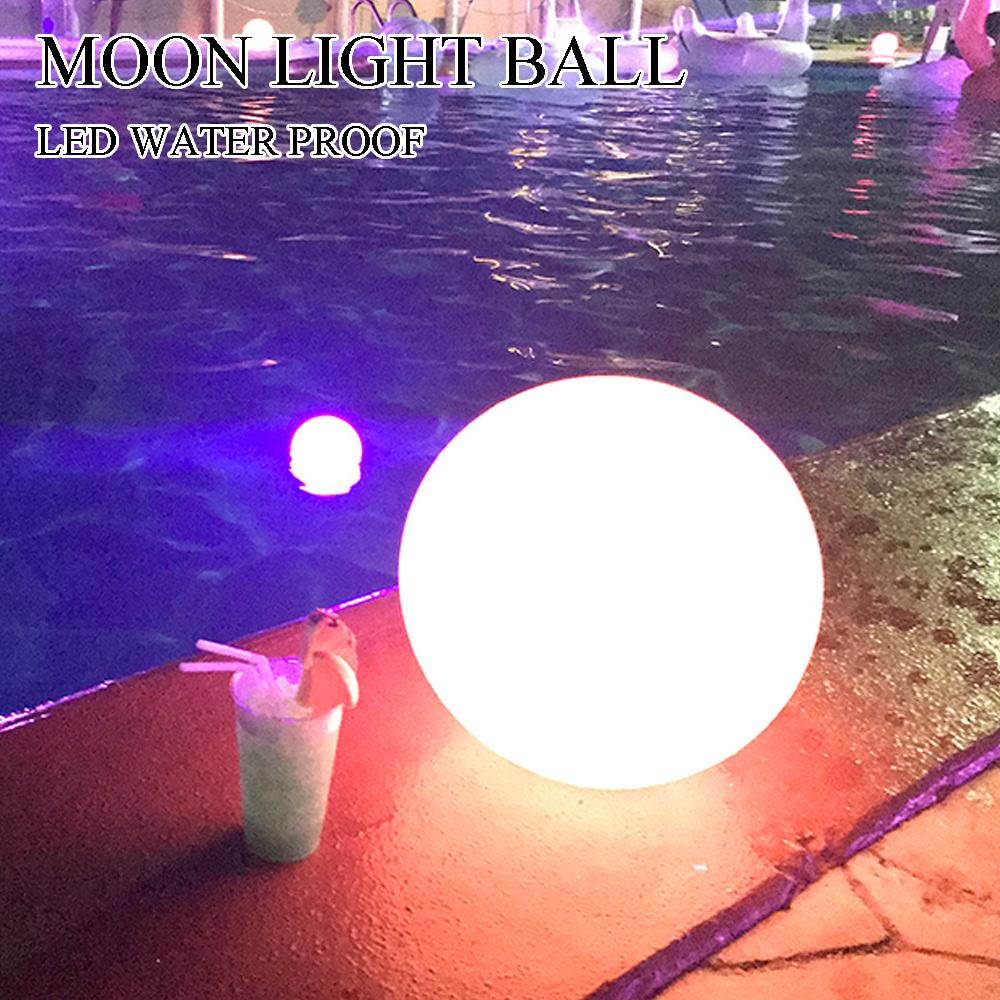 最安値級価格 送料無料 LEDライトボール ナイトプール 屋内 屋外 充電式 防水IP68 光る球体 直径40cm 16色, 【限定特価】 4f59a5da