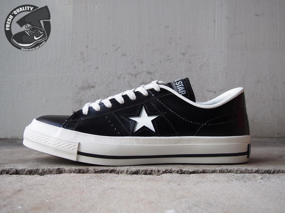 32346511 CONVERSE ONE STAR J BLACK/WHITE MADE IN JAPAN コンバース ワンスター ジャパン ブラック/ホワイト