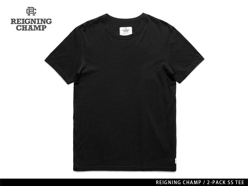 REIGNING CHAMP 2-PACK S/S TEE BLACK レイニング チャンプ 2-パック ショートスリーブ ティー ブラック
