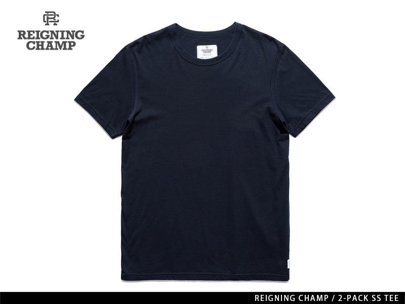 REIGNING CHAMP 2-PACK S/S TEE NAVY レイニング チャンプ 2-パック ショートスリーブ ティー ネイビー