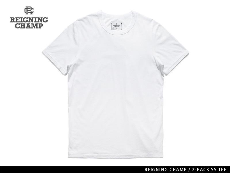 REIGNING CHAMP 2-PACK S/S TEE WHITE レイニング チャンプ 2-パック ショートスリーブ ティー ホワイト