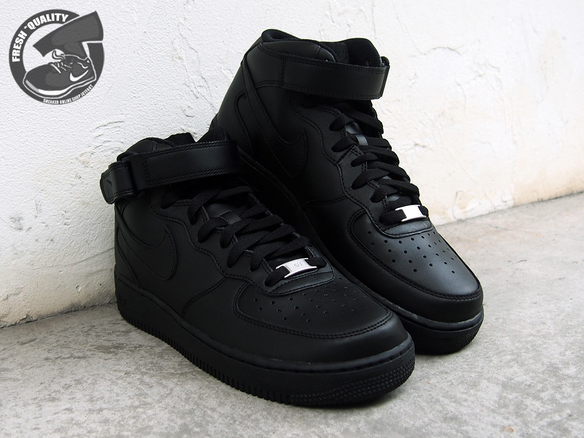 quality design d91e5 77e73 315123-001 NIKE AIR FORCE 1 MID ALL BLACK Nike Air Force 1 mid black