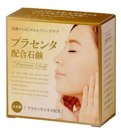 洗顔で始めるうるおいのエイジングケア石けん プロセンタ配合石けん 売店 最新アイテム