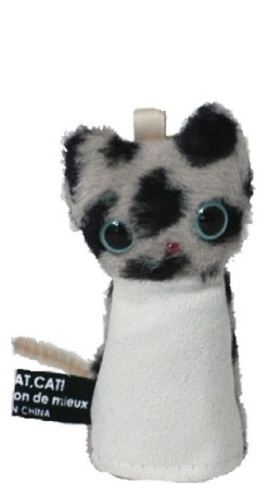 marie maison ギフ_包装 de mieuxのwiper Cat 贈呈 Pupetです ワイパーキャット 携帯ストラップ《マリーメゾン》 画面クリーナー パペット ブチベージュ