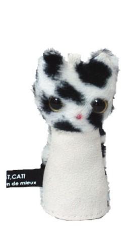 marie maison 代引き不可 de 期間限定送料無料 mieuxのwiper Cat Pupetです 画面クリーナー 携帯ストラップ《マリーメゾン》 ワイパーキャット ブチホワイト パペット
