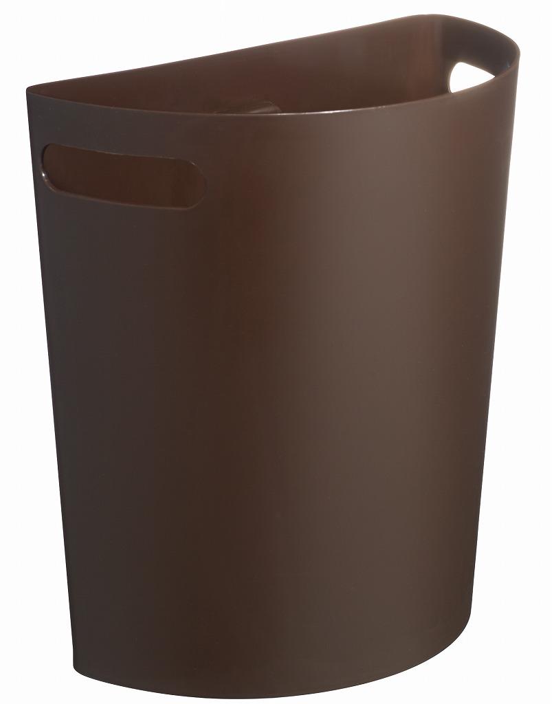 壁面空間を有効利用できる便利なダストボックス 壁掛けダストボックス 売店 Meluna ゴミ箱《伊勢藤》 新作販売 チョコブラウン