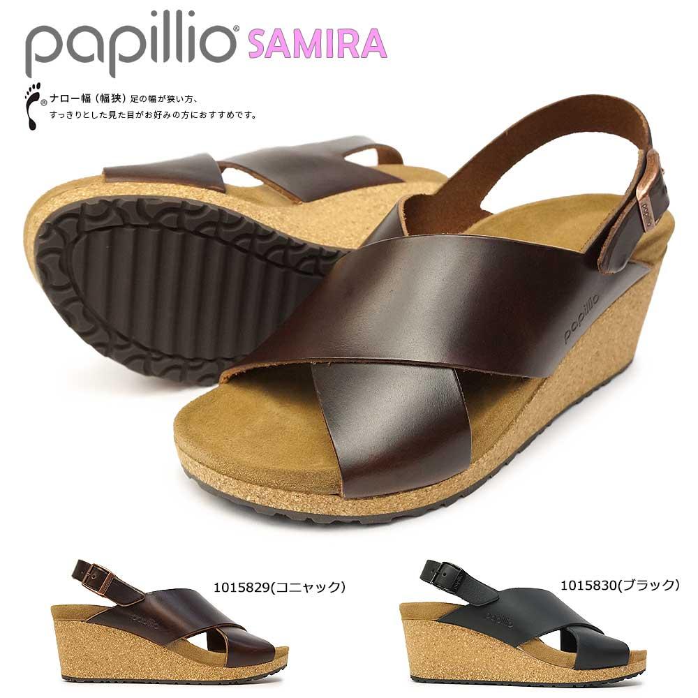 即納 甲ストラップが脚を優しく きれいに演出します あす楽 ビルケンシュトック Birkenstock サンダル ウェッジソール パピリオ 期間限定 サミラ 安売り ミュール Samira レディース Papillio