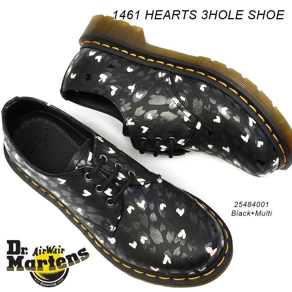 【あす楽】ドクターマーチン 靴 1461 HEARTS 3ホール レディース 正規品 マルチ ハートプリント