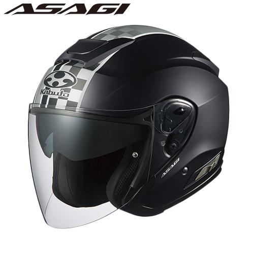 OGKカブト ASAGI SPEED (アサギ スピード) ジェットヘルメット 【フラットブラック XSサイズ】