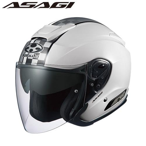 OGK ASAGI SPEED (アサギ スピード) ジェットヘルメット 【ホワイト Sサイズ】