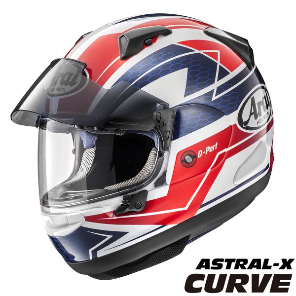 アライ ASTRAL-X CURVE (アストラルX カーブ) フルフェイスヘルメット 【レッド XLサイズ】