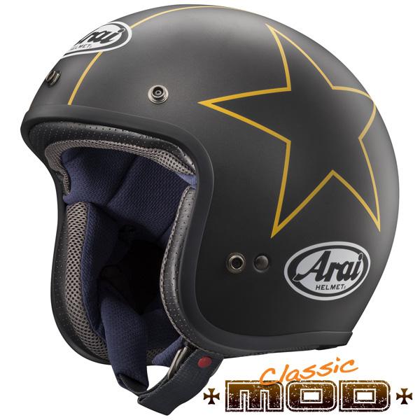 アライ CLASSIC MOD スモールジェットヘルメット 【グラフィック スターズ Lサイズ】