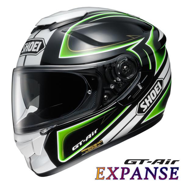 ショウエイ GT-Air EXPANSE 【TC-4(GREEN/BLACK) Mサイズ】 エクスパンス フルフェイスヘルメット