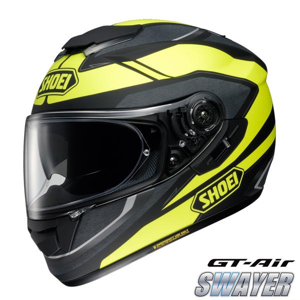 ショウエイ GT-Air SWAYER 【TC-3(YELLOW/BLACK) XLサイズ】 スウェイヤー フルフェイスヘルメット