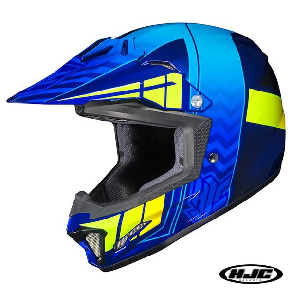 HJC CL-XY2 クロスアップ キッズ用 オフロードヘルメット 【ブルー M(51-52cm):HJH099】